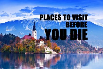 Bled With Lake, Island, Castle And Mountains In Background